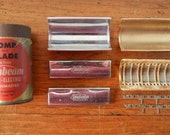 Vintage Shaving replacement parts for Sunbeam Shavemaster models G and W Mens grooming comb and blade