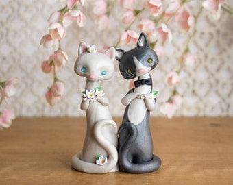 Cat Wedding Cake Topper by Bonjour Poupette