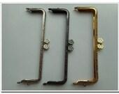 3 pieces 17cm purse frame  purse clasp clutch frame  metal purse frame purse making supplies wholesale