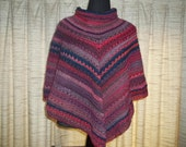 Cowl Neck Light Weight Colorful Poncho
