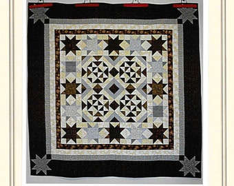 Quilt Pattern, Iced Chocolates, Cottage Rose Quilt, Deb Eggers, PATTERN ONLY