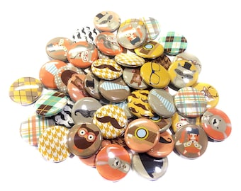 """Hipster, 1"""" Buttons, Hipster Buttons, Hipster Pins, Hipster Flatbacks, Hipster Decor, Hipster Party, Hipster Party Favors, Hipster Theme"""