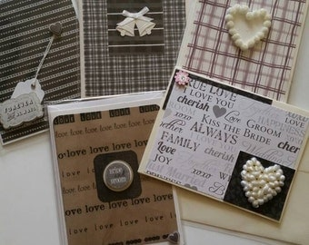 Congratulations, black and white,  wedding,  bride and groom,  hearts,  wedding bells,
