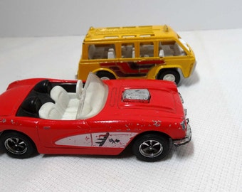 Tootsie Die Cast Cars SUV and a Corvette and Games Toys Play Vehicles Toy Cars