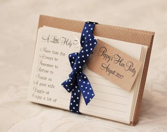 Hen Party Advice Game Cards - kraft and navy - set of 8