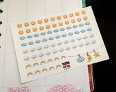 Cute Weather Planner Stickers