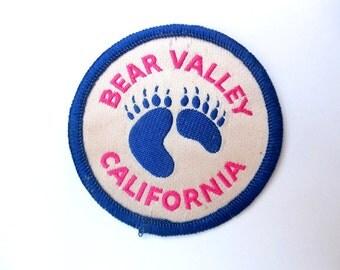 Vintage Ski Patch - Bear Valley - California - Ski Resort - CA Patch - High Sierra's - Ski Memorabilia - Ski Collectible - Ski