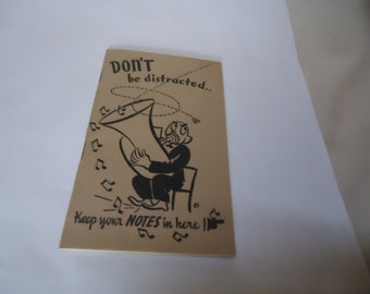 Vintage 1947 Don't Be Distracted Student School Subject Notebook With Calendars, collectable