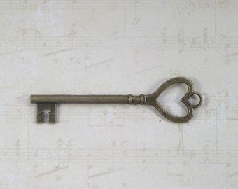 20 three inch heart shaped keys, gold silver and bronze 25.00