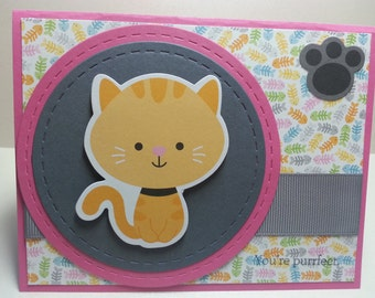 Handmade You're Purrfect Card, For Her, Cats, All Occasion Card