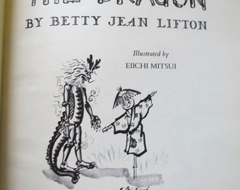 Joji and the Amanojaku (Dragon) 1957 Childs Book by Betty Jean Lifton Linnet Publisher Japanese Scarecrow Story Black White Drawings