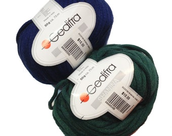 Gedifra Shanina Yarn Bulky, Dark Green Chunky Wool, Color 5068, Acrylic Blend for Knitting and Crochet