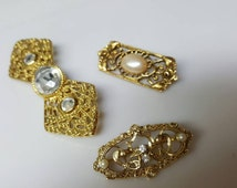 1928 Jewelry Company    Victorian Brooches lot of 3