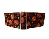 "1.5"" Martingale Collars, Halloween Martingale Collar, Pumpkin Martingale Collar, Orange and Black, Halloween Dog Collar, Pumpkin Dog Collar"