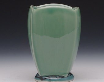Squared Green Porcelain Ceramic Cup