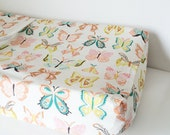 Baby Girl Bedding - Crib Sheets - Standard or Mini Crib Sheet - Changing Pad Cover / Pink Mint Fitted Sheet / Neon Baby Bedding Etsy