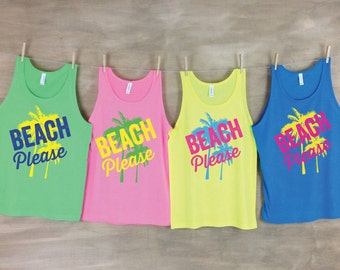 Beach Please Beach Tanks -Single or Group