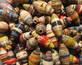 Paper Beads, 16mm cones, multiple colors (20)