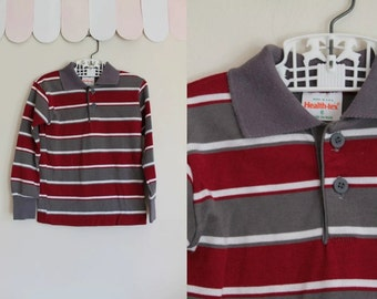 vintage boy's tee - HEALTH-TEX striped long sleeve top / 5T