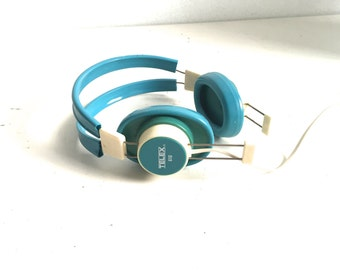 vintage 60s 70s STEREO headphones with Iphone/Ipod/Walkman capacity