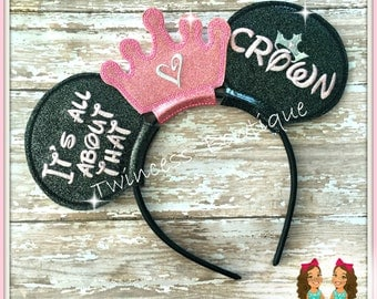 All About that Crown - CUSTOM Pageant Mouse Ears Headband