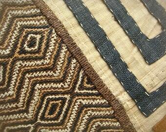 Sale Vintage African Kuba Cloth Panel Woven