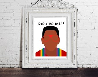 Family Matters - Steve Urkel, Did I Do That? Funny Tv Sitcom Art, Television, Throwback Gift, Funny Print Quote, Winslow, Digital Download