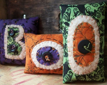 Whimsical Appliqued Halloween BOO Bowl Fillers