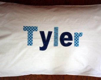 Boy's Personalized Pillowcase - custom birthday gift idea sleepover slumber party girls bedding kids pillowcase