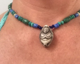 Mother Goddess necklace, reversible