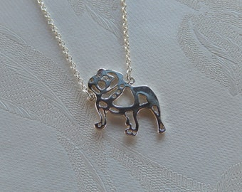 Bulldog Necklace, Pet Necklace, Dog Necklace, Gift for Her