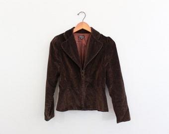 Vintage 90s Brown Velvet Jacket by Paige Novick