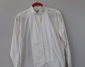 Vintage Tux Style Shirt Lady Martino By Henry Segal
