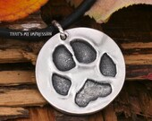 Silver Personalized Paw Print Charm for Pet Lovers