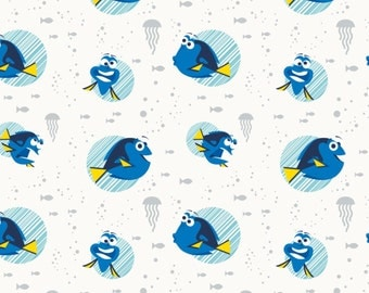 Dory Fabric Finding Dory Cotton Quilt and Craft Fabric, Licensed Fabric