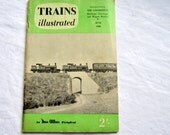 Trains Illustrated Periodical, June 1960 Edition, Vintage Magazine, British Trains, UK, 1960s Trains, Green, Advertising, Pictures, News