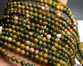 Ocean Jasper - 6mm round -  16 inch  strand - 67 beads - A quality - RFG917