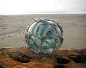 "Japanese Glass Fishing Float - 4"" diameter, Original Net"