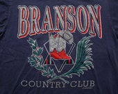 Branson Country Club T-Shirt, Vintage 90s, Cowboy Hat & Boots Graphic