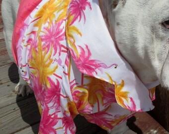 ENGLISH BULLDOG Hawaiian Shirt, Hawaiin Dog Shirt, Pet Clothes, English Bulldog Pool summer shirt, Dog Costume, Bulldog, Hawaiin Shirt dog