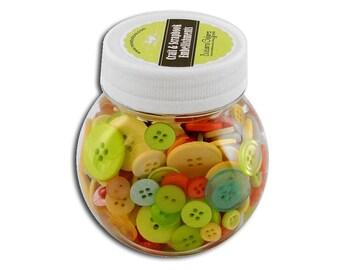 Buttons Galore Button Jar Collection Citrus Assortment