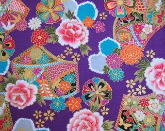 Japanese Fabric - Purple