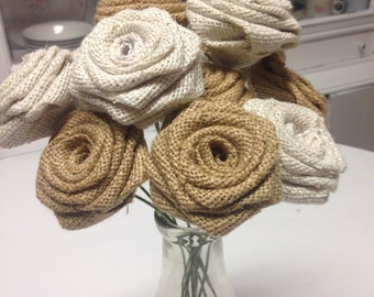 Set of 30 -Mixed Ivory an Natural Roses on Stems-Wedding Decor-DIY wedding-Rustic Wedding-Wedding Bouquet- Flower Arrangement