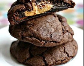 ON SALE Chocolate Peanut Butter Stuffed Cookies