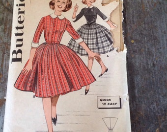 Vintage Butterick Sewing Pattern 9481 Sub-Teen Dress Size 12S Bust 31
