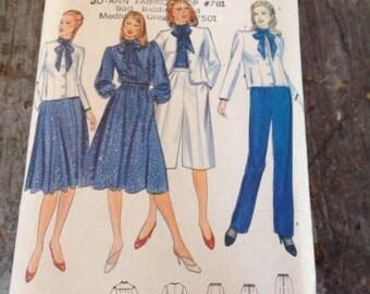Vintage Butterick Sewing Pattern 4230 Misses' Jacket Blouse Skirt Culottes Pants Size 12