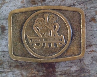 Vintage Brass Sons in Retirement Belt Buckle