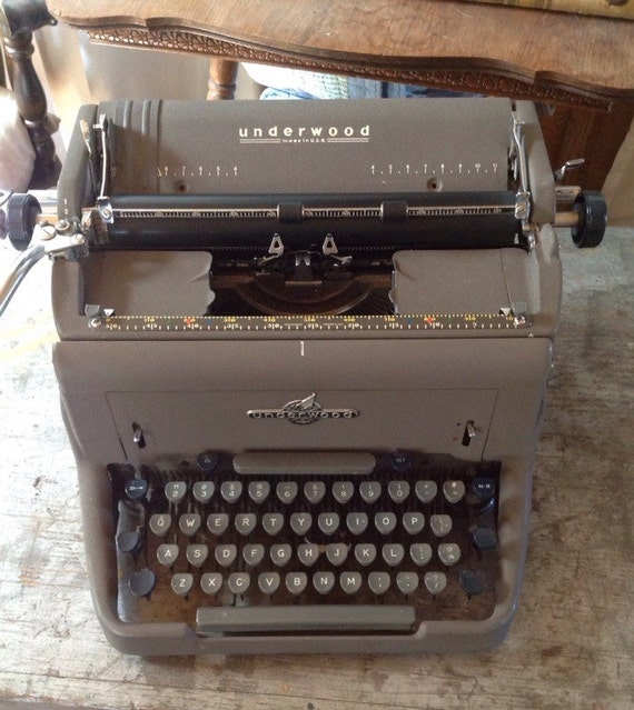 Machine crire de underwood vintage usa - Machine a ecrire underwood ...