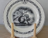 Dessert Plates Squirrel Spring Easter Bunny Rabbit Decorative Plate Wall Decoration Home Decor Kitchen Accessory Country Home City Home.