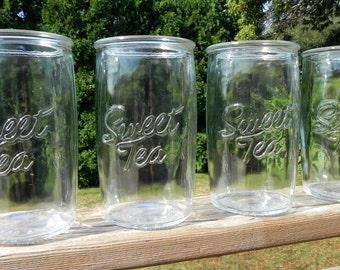 Sweet Tea Drinking Glasses Set Of 10 Ice Tea Glasses Sweet Tea Sign Southern Saying Ya'll Farmhouse Southern Event Wedding Decor Paper Straw